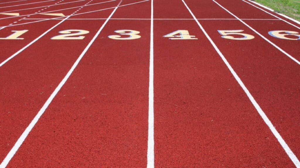 Running tracks symbolising our coaching philosophy