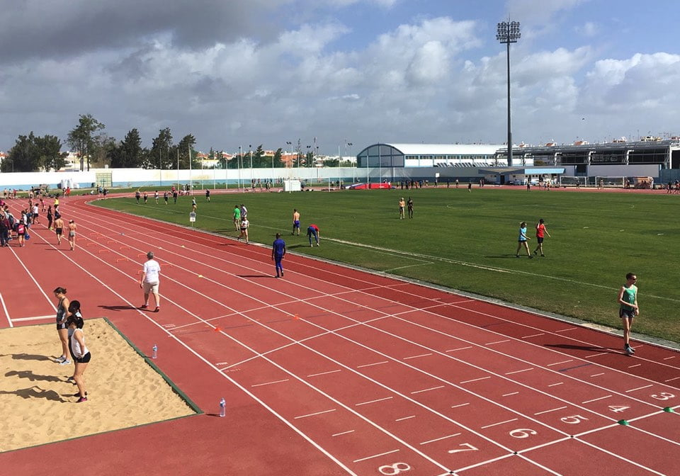 Athletes training in Vila Real de Santo Antonio