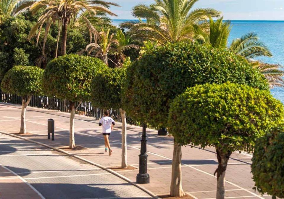 Runner on Paseo in Marbella