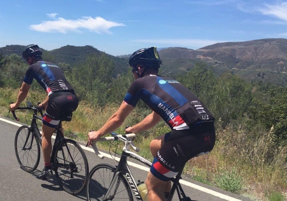 Road cyclists in Marbella