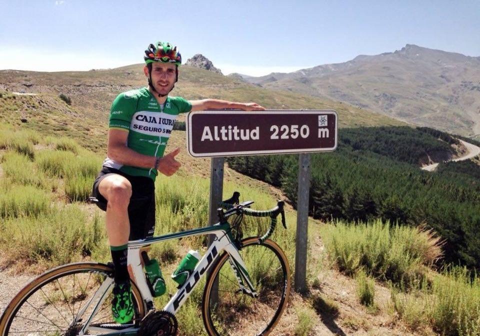 Pro cyclist in Sierra Nevada