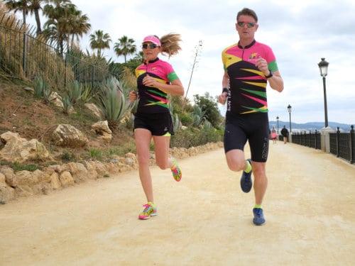 Triathletes training in Marbella